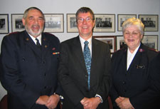 Mayor Garry Moore with Major Bob Millar and Major Evelyn Millar of the Salvation Army whose work in the community was recognised at the Council meeting on 13 December.