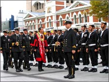 Mayor inspecting Charter Parade