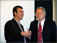 Mayor Garry Moore and with Tom Furness, Director of the Human Interface Technology Lab.